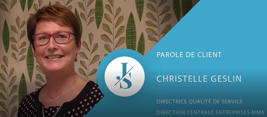 qualité, Christelle Geslin, Directrice Qualité de Service, Direction Centrale Entreprises MMA
