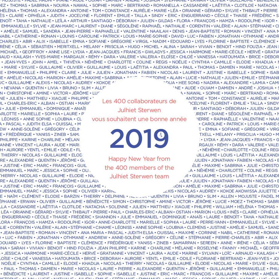 Bonne année 2019 Julhiet Sterwen